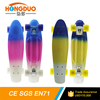 hot sale 22 inch three colors 3 colored painting mini cruiser skate board