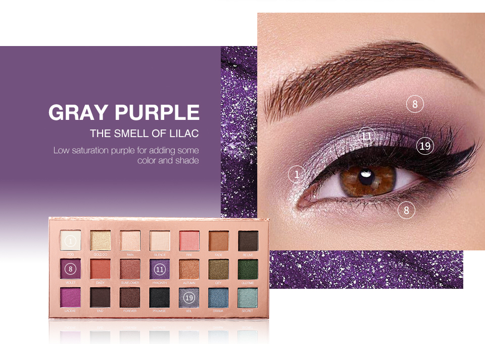 O.TWO.O Wet Powder Eyeshadow Palette With Mirror Makeup 21 Color Charming Eye Shadow Palette