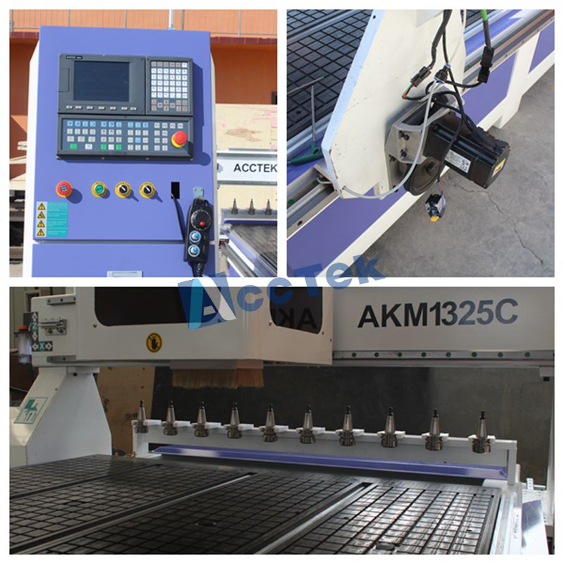 AKM-1325 automatic tool changer woodworking cnc router,3d cnc router 1325 linear atc