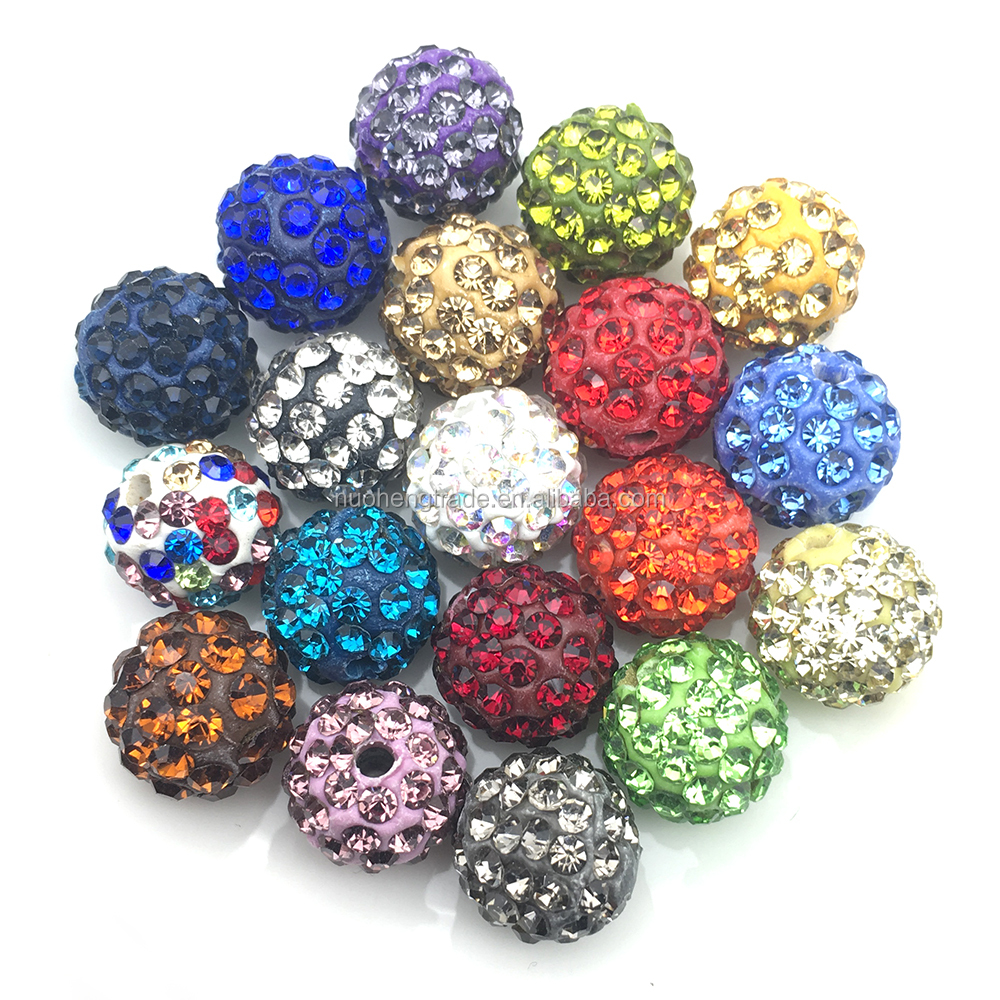 6 Rows Crystal Quality Wholesale Micro Pave Diamond Crystal Rhinestone Clay Beads Bracelet Spacer, 32 colors for your choice