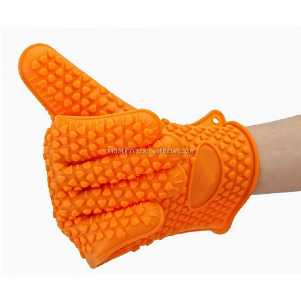 Amazon Best Seller Microwave Oven Heat Protective Silicone Cooking Gloves,BBQ Grill Gloves