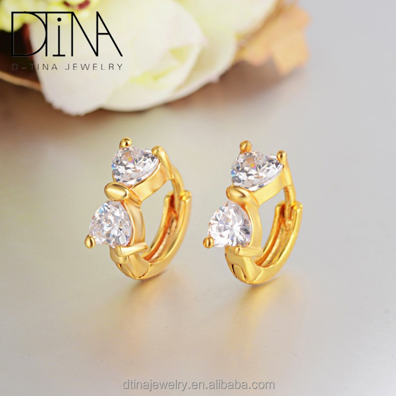 Europe s top design young woman bridal Earrings, Golden