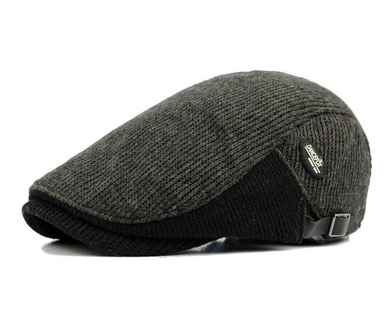 6ad4906e40611 Get Quotations · Naray Wool Duckbill Ivy Tweed Flat Cap Men Newsboy Winter  Driver Caps Hat
