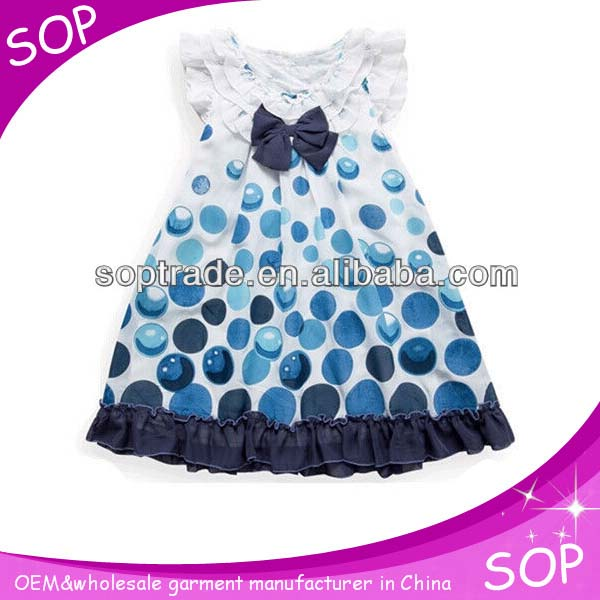 2015 New Casual High Quality Cotton Round Neck Baby Frock Designs ...