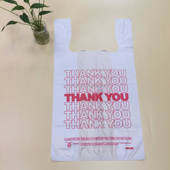 Poly Thank You Bag Large Plastic Recycled Shopping Bags