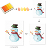 Famous christmas paintings 3D snowman DIY fingerprint painting