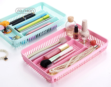 FY-987 CLEAR PLASTIC STORAGE BOX WITH DIVIDERS COMESTIC TOOLS STORAGE BOX BELT ORGANIZER