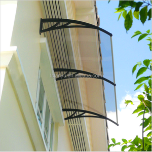 Lanyu PC Hollow sheet aluminum frame rain awning