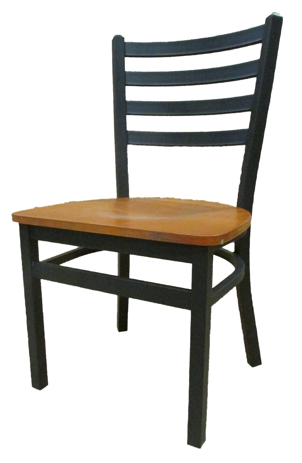 "Oak Street Manufacturing SL3160-C Metal Frame XL Ladderback Dining Chair with Cherry Wood Seat, 19-1/4"" Width x 46"" Height x 17-1/2"" Depth"