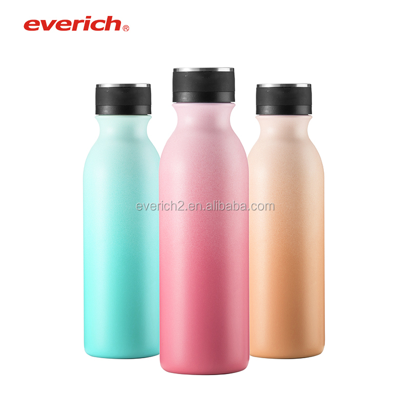 gift drinking 550 ml two-tone color stainless steel water bottle for promotion