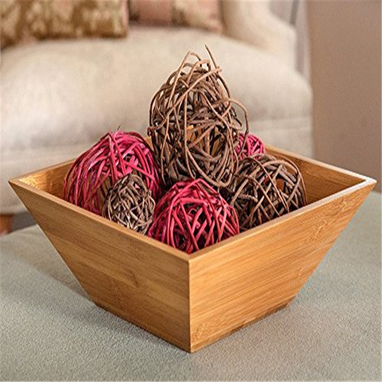 Factory Supply Totally Bamboo Salad Bowl Sale 3