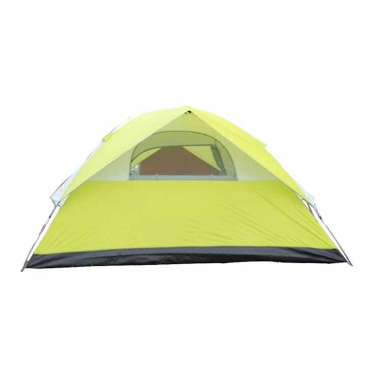 Factory 4 Person Double Layer Family Tents for Camping Color Green фото