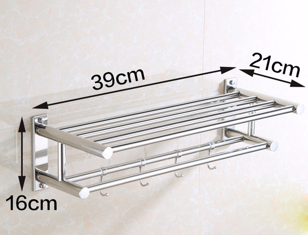 DACHUI Sealed stainless steel towel rail toilet Wall mounting 391621