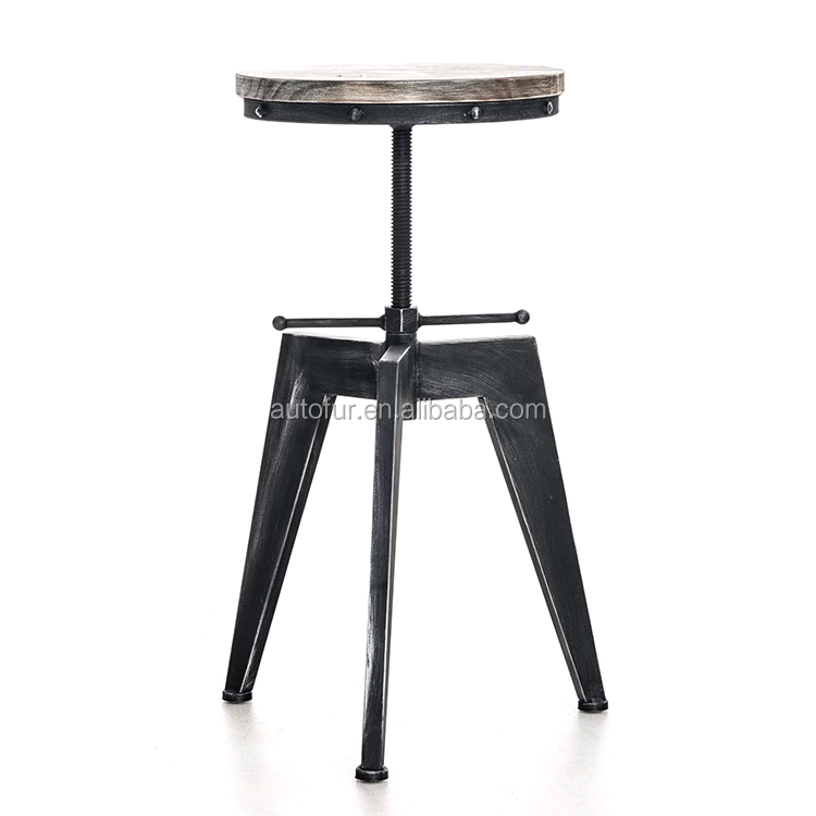 Promotional designs antique solid wood bar chairs bar stool wooden