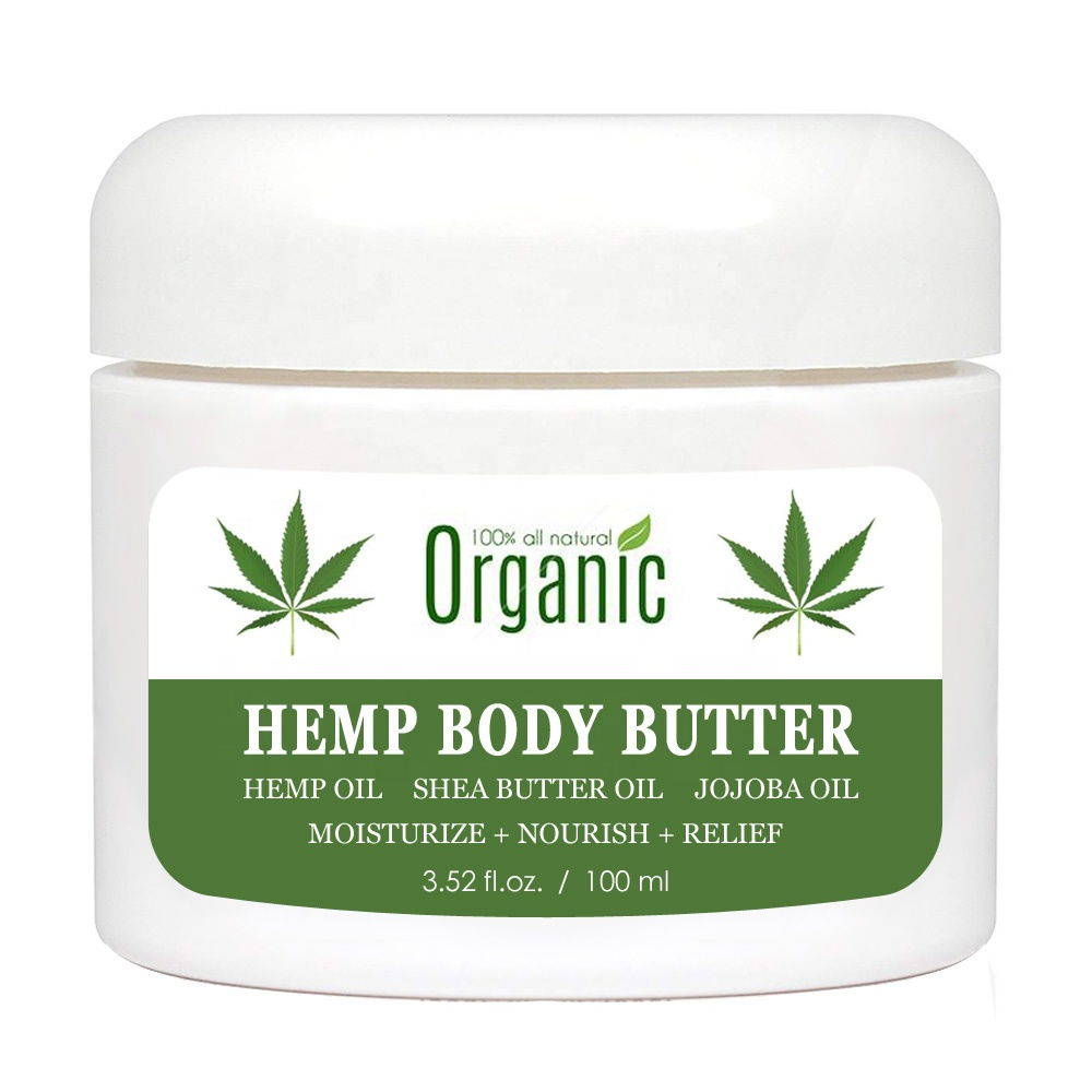 Private Label Natural Organic Hemp Oil Cream CBD Moisturizer Moisturizing Soothing Relief Shea Butter Hemp Butter CBD Butter фото