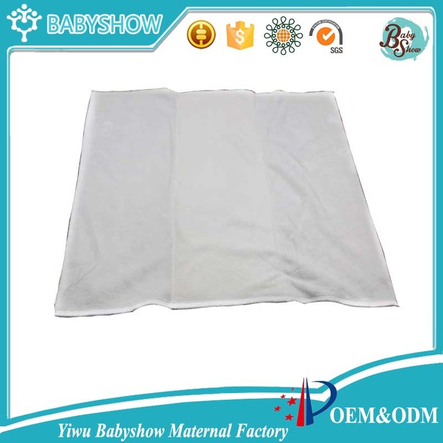 35*36cm White Three Part 2/4/2 Bamboo Prefold Cloth Diaper Baby Nappy