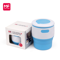 Wholesale bpa free silicone reusable coffee cup with lid custom