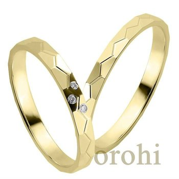 hg293 light weight 14ct yellow gold wedding bands design cheap solid gold ring jewelry
