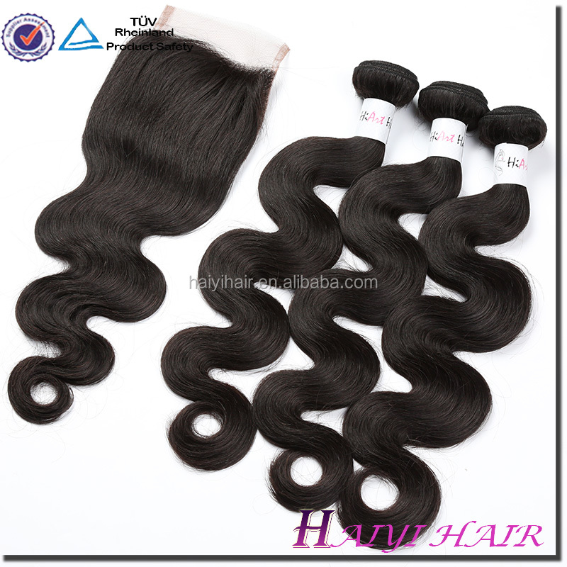2018 Best Sellers Top Quality No Tangle No Shedding Grade 8A 3 Bundles Weave With Closure