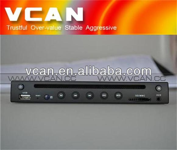 Half din Extra slim car dvd player multimedia player VCAN0500