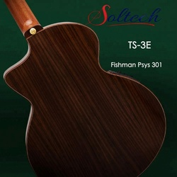 TS-3E Fishman Psys 301 Pickup High Quality Acoustic Guitar from Soltech Guizhou Factory