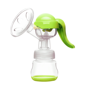 One hand operation portable breast pump for baby milk feeding and storage