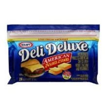 Kraft Deli Deluxe American Sliced Cheese, 8 Ounce -- 12 per case.