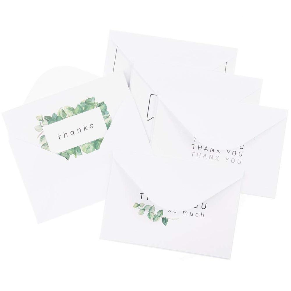 6 Designs ... Rustic Thank You Note Cards 36 Thank You Cards Blank Cards