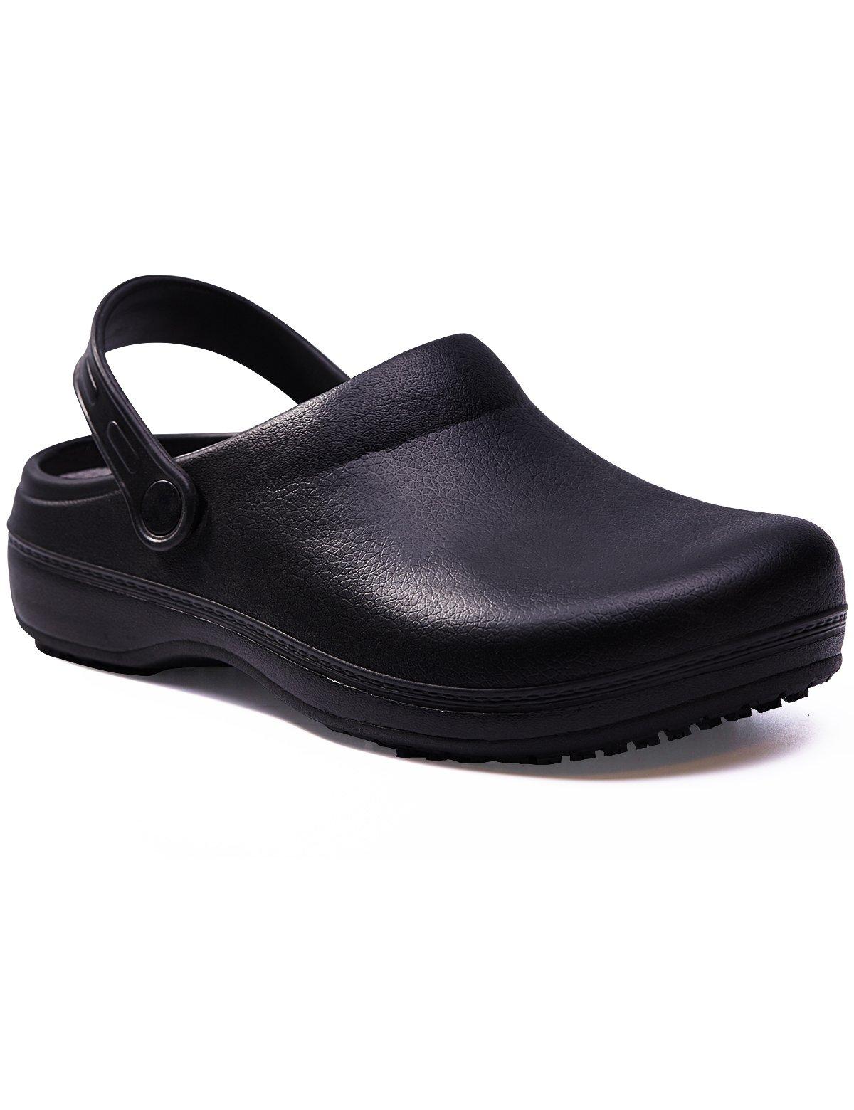 get quotations jinstar unisex black non slip chef shoes slip resistant work clogs for kitchen men women - Non Slip Kitchen Shoes