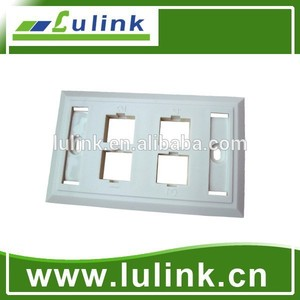 Hot sales!120 Style 4 Port Network Faceplate/Wallplate,86*126mm