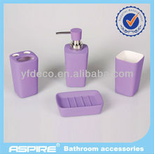 ceramic bath set with rubber coating