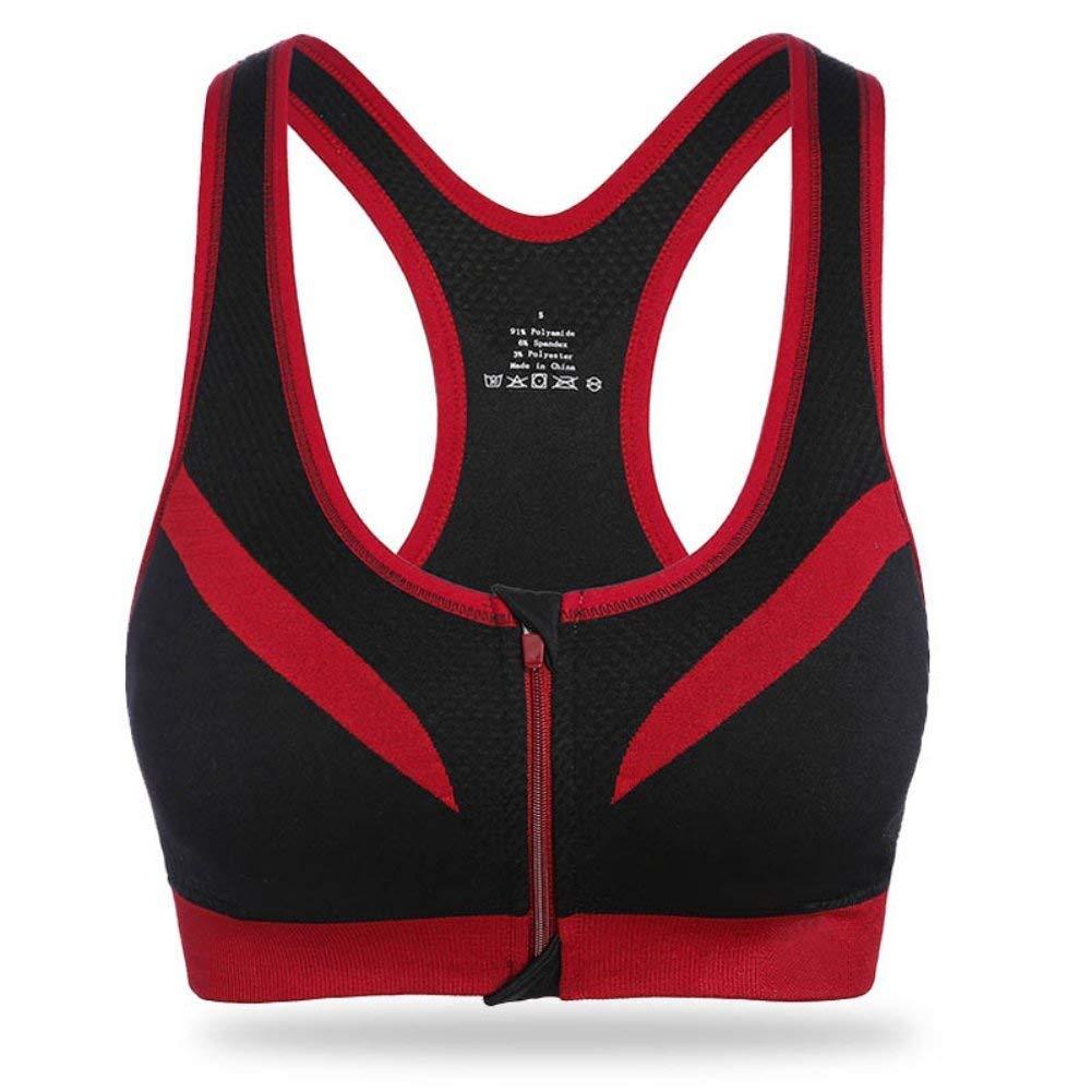 Etosell Women Zip Up Bra Sports Bra Running Yoga Fitness Tank Tops
