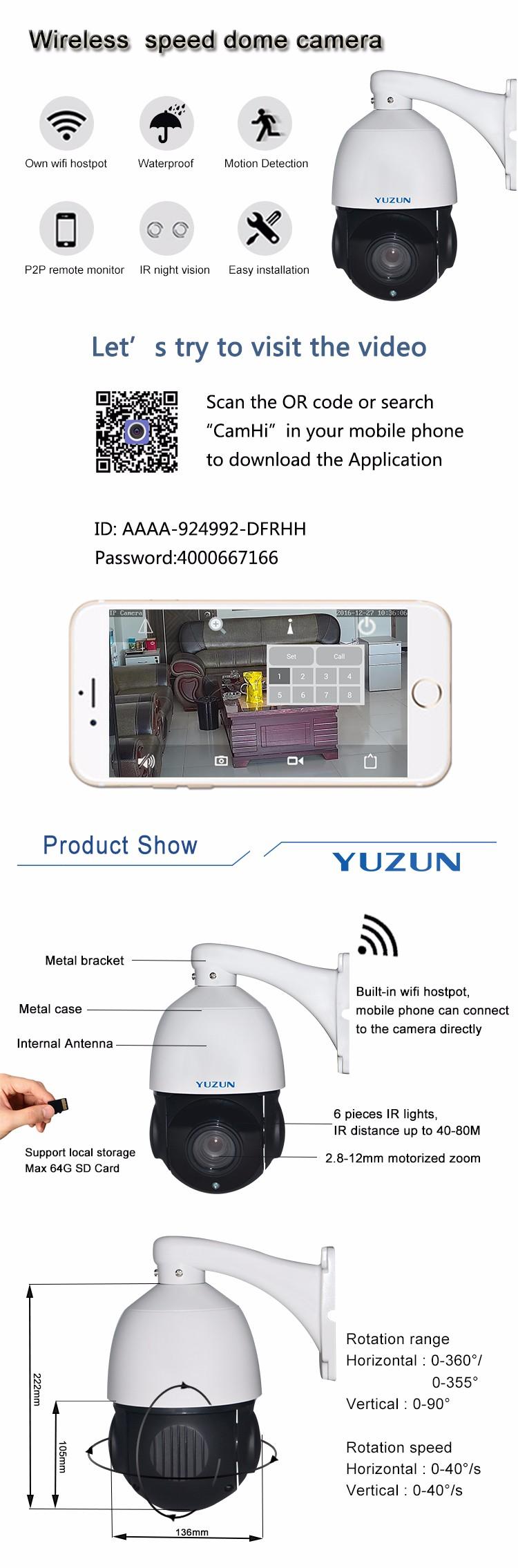 H 264 Outdoor 2 Megapixel Wifi Ir Ptz Ip Camera With Wifi Hotspot - Buy  H 264 Ptz Wifi Ip Camera,2 Megapixel Wifi Ir Ptz Ip Camera,Outdoor Wifi Ptz