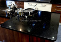 All Welcomed Artificial Black Crystal Quartz Stone Tiles Widely Used in Kitchen Countertop,Dining Table Top and Bathroom