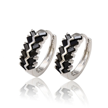 1df5a3f40 28114 xuping black stone earrings for women, stone gold color earrings,  black rhodium jewelry