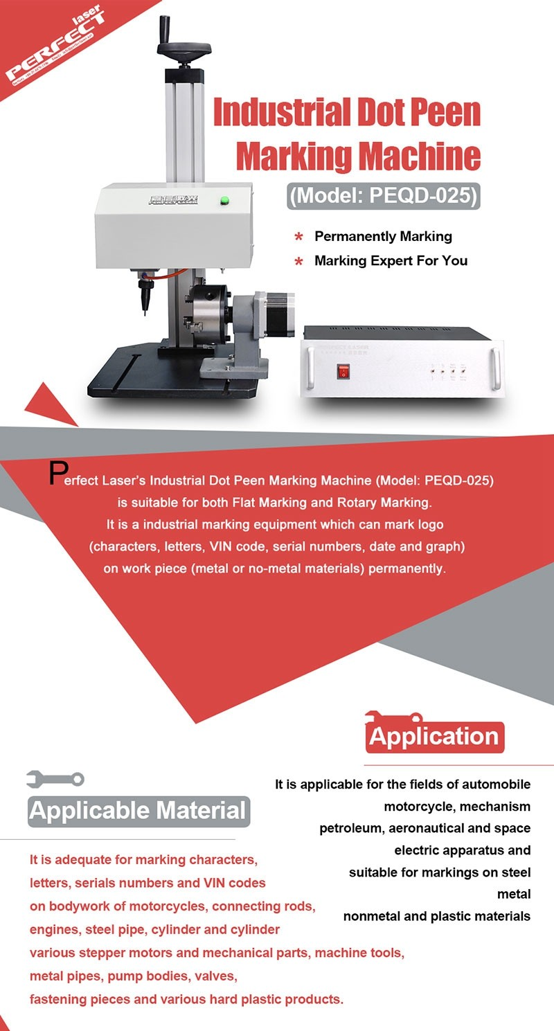 High Quality Rotary Device Dot Peen Marking Machine for Bearing Parts
