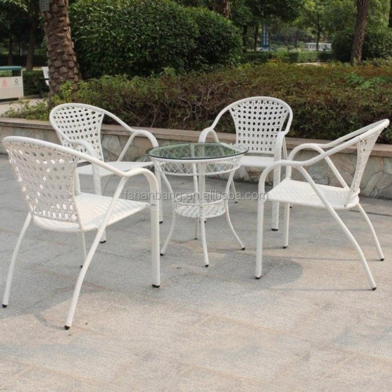 Venta al por mayor mesas de jardin redondas hierro blancas for Sillas jardin blancas