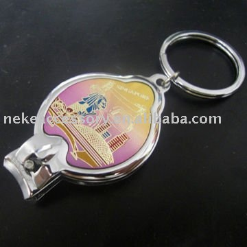 metal promotion nail cutters key ring with custom design
