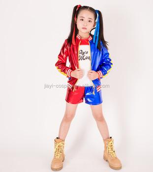Harley Quinn Costume For Kids Toddler Female Villain Halloween Fancy