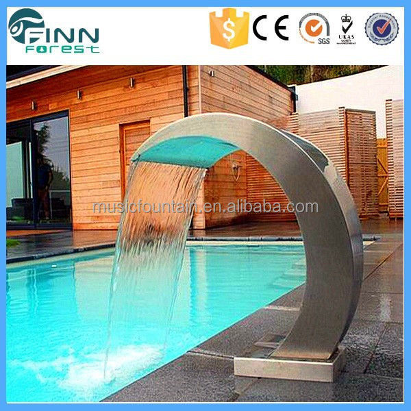 Wholesale Outdoor or Indoor Artificial Swimming Pool Water Waterfalls