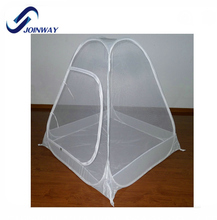 JWS-011B Cheap white pop up personal mosquito one touch tent canopy