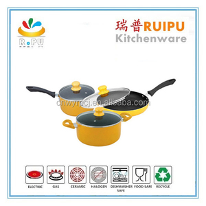 Outdoor Camping Light Weight camping color printed cookware,italy cookware,terra cotta cookware