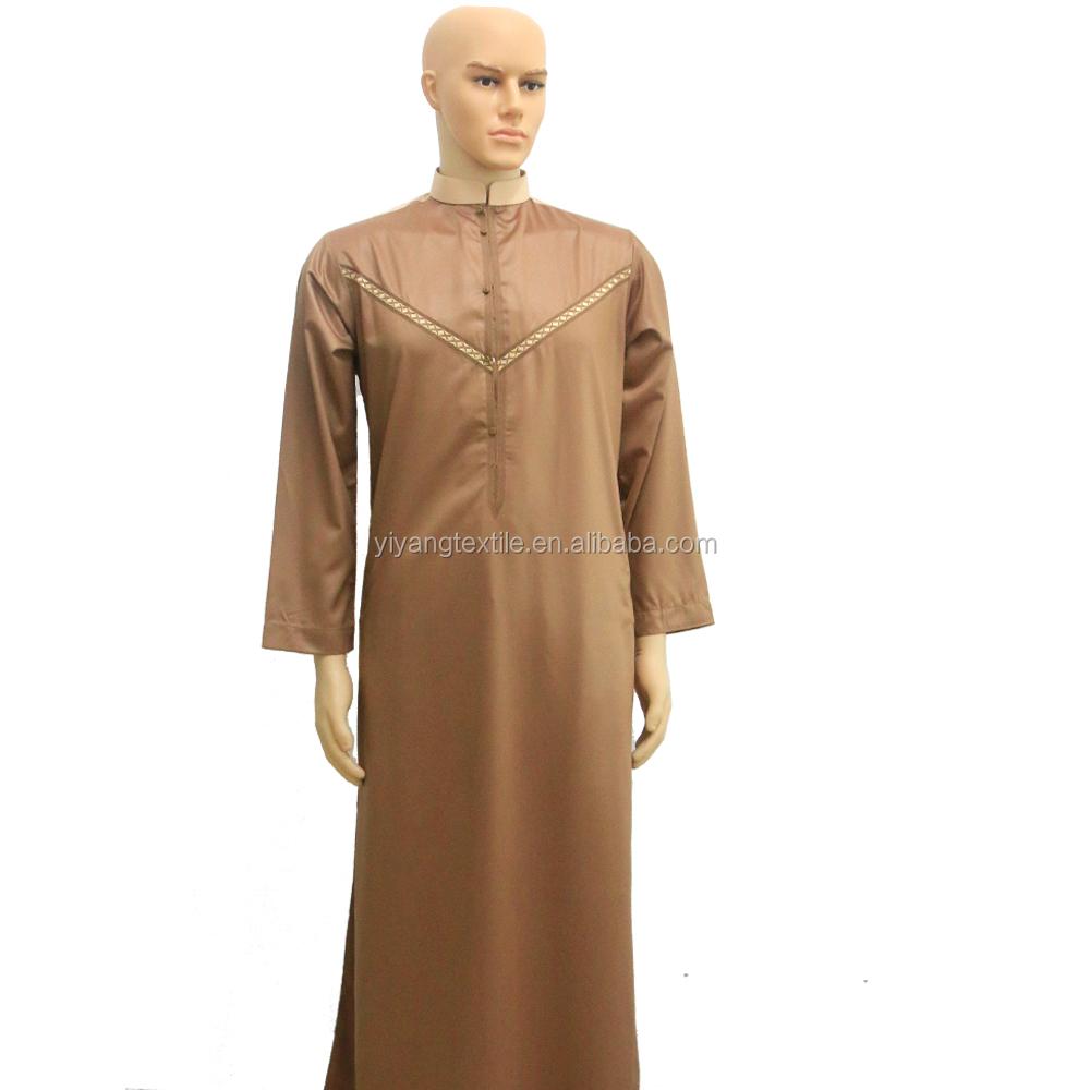 High Quality Mens Arabic Robe Thobe jubah Cotton Middle East Men thobe Islam  clothing 5e63b307b