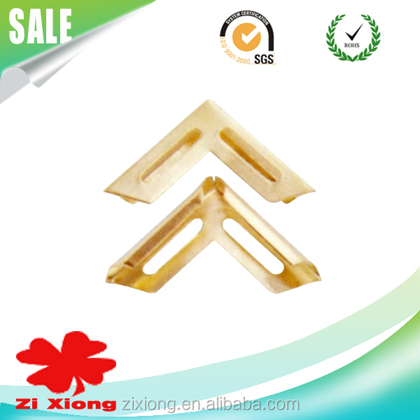 Decorative Gold metal triangle book frames Corner protector