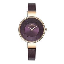 IBSO Топ бренд 6,5 мм, ультра-тонкие часы Curren из нержавеющей стали с кожаным ремешком, женские кварцевые часы-браслет, 2019, наручные часы #2249(Китай)