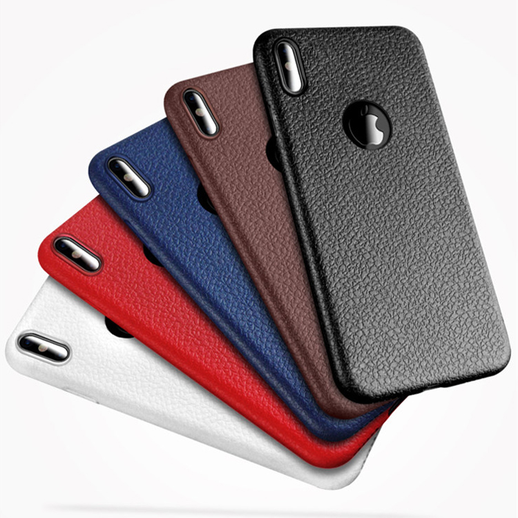 Hot Sell Mobile Phone Leather Back Case Cover for iPhone 8