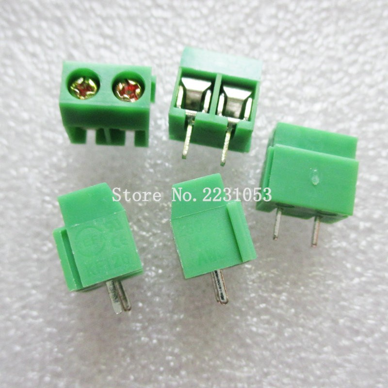 4 Pares Verde 3P 5.08 mm conector de bloque de terminal de tornillo espaciado PCB 300 V 10 A