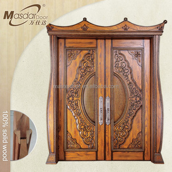 Indian House Front Safety Door Design Solid Wood Double Doors
