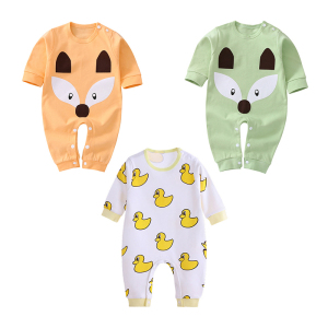 2018 Factory Professional Organic cotton Plain Baby Romper Wholesale