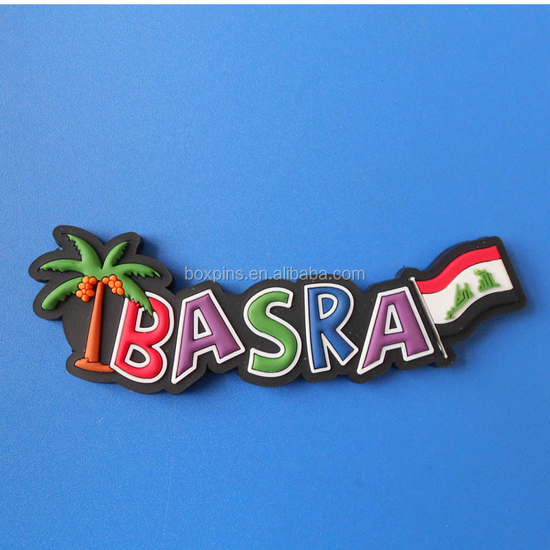 Basra Iraq rubber city name fridge magnet